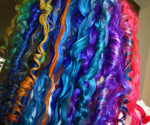 amazing, hair, and colorful image