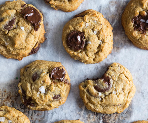 chocolate chip, food, and cookie image