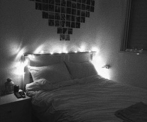 black and white and tumblr rooms image