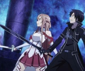 sword art online, kirito, and anime image