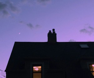 sky, purple, and evening image
