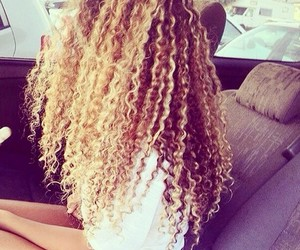 blonde hair, curly hair, and hair image
