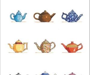 cute, colors, and tea image