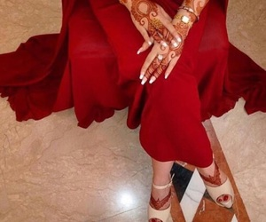 henna, arab, and heels image
