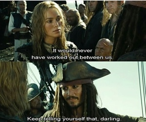 love, pirates of the caribbean, and johnny depp image