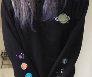 aesthetic, clothes, and galaxy image