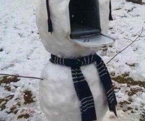 snowman, funny, and snow image