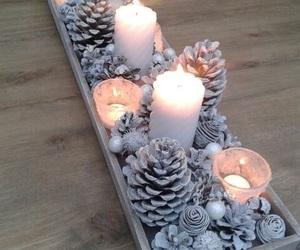 christmas, candle, and diy image