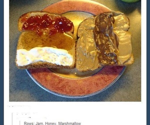funny, nutella, and food image