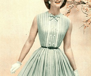 dress, fashion, and 1950 image