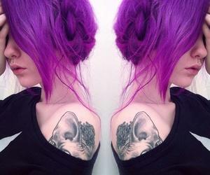 purple and tattoo image