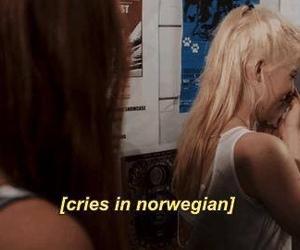 bathroom, norwegian, and crying image
