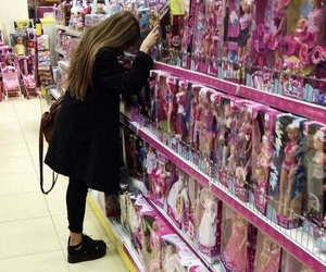 girl, barbie, and black image
