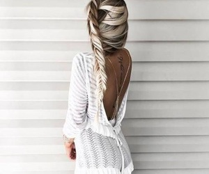 beauty, hair, and white image