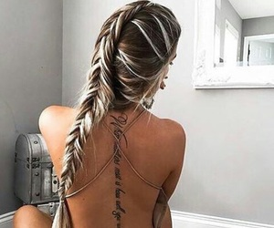 beauty, hair, and tattoo image