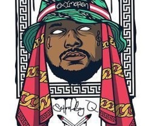 art, dope, and schoolboy q image