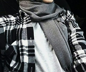 hijab, style, and black image