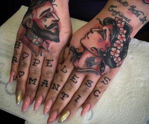 tattoo, nails, and art image