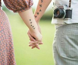 love, tattoo, and bird image