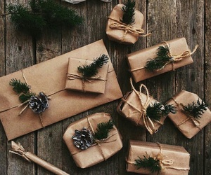 branches, christmas, and gifts image