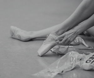 ballet, shoes, and dancer image