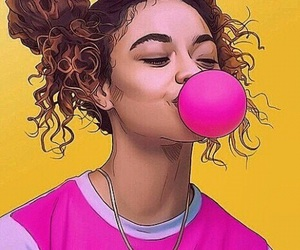 bubble gum, girl, and tumblr image