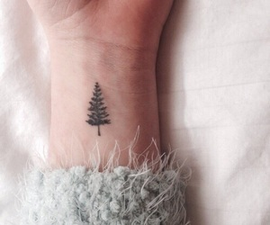 tattoo, tree, and winter image