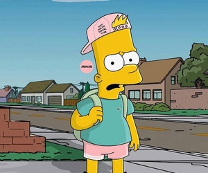 art, drawing, and simpsons image