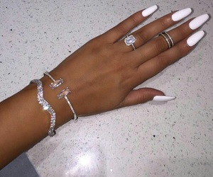 nails, white, and luxury image