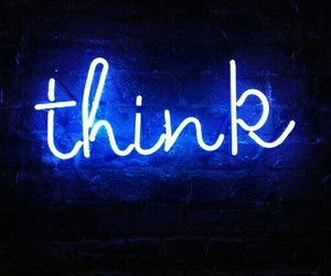 blue, neon, and think image