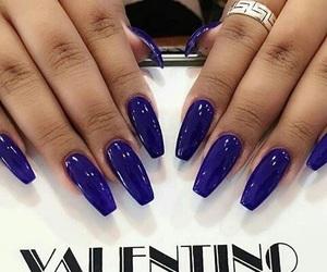 nails, long nails, and Valentino image