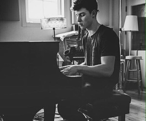 shawn mendes, shawn, and piano image