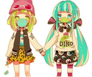 vocaloid, hatsune miku, and gumi image