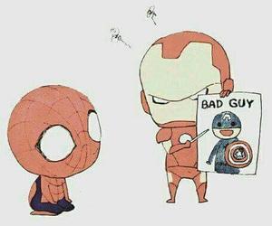 Marvel, spiderman, and civil war image
