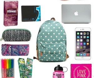 essentials, backpack, and school image