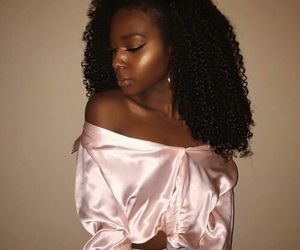 fashion, pink, and melanin image