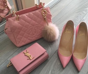 pink, bag, and chanel image