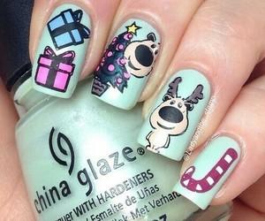 nails, christmas, and girl image