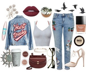 fashion, jeans, and Maybelline image