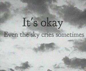 cry, sky, and sad image