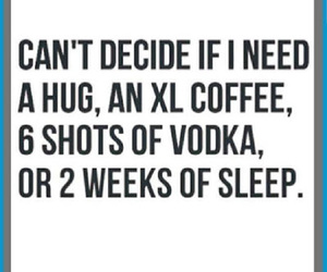 coffee, funny, and vodka image