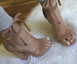 heels, lace up, and sandals image