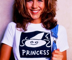 Jennifer Aniston, friends, and 90s image