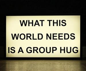 hug, quote, and world image