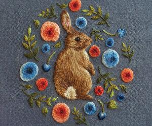 rabbit, art, and bunny image