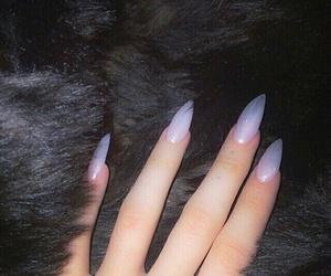 nails, acrylics, and grunge image