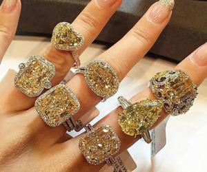 diamond, rings, and luxury image