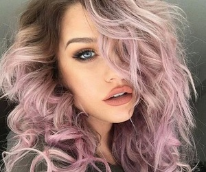 hair, pink, and makeup image