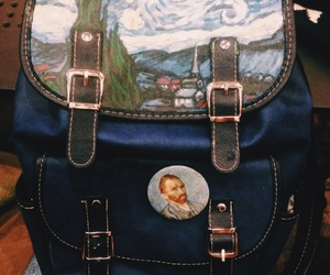art, bag, and painting image
