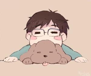 anime, yuri, and makkachin image